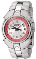 Sector 195 Series Women's Watch Analogue Quartz with Date, Grey/Pink Dial and Aluminium Bracelet - R3253195001