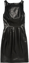 Saint Laurent Open-back leather mini dress
