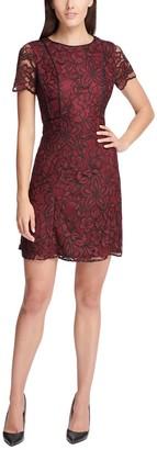 Kensie Floral Crochet Lace Sheath Dress