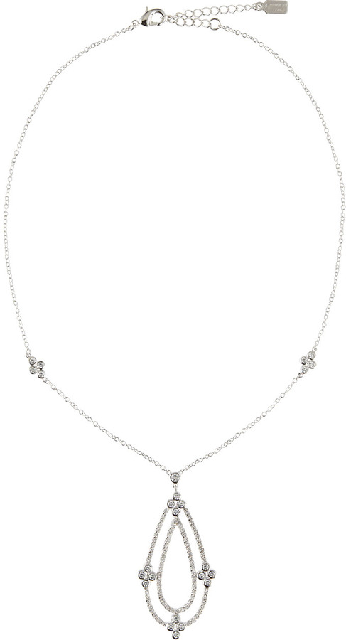Kenneth Jay Lane CZ by Cubic Zirconia Pendant Necklace