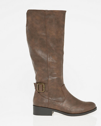 Le Château Faux Leather Buckle Riding Boot