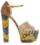 Elie Saab Women's Yellow Leather Sandals.