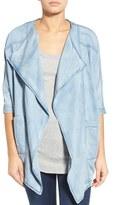 James Jeans Women's Drape Front Chambray Jacket