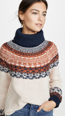 Madewell Senya Fairisle Turtleneck Sweater