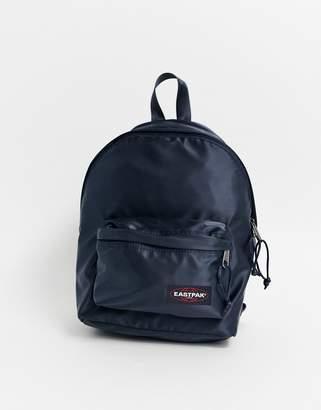 Eastpak satin effect backpack in navy