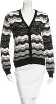 M Missoni Patterned V-Neck Cardigan