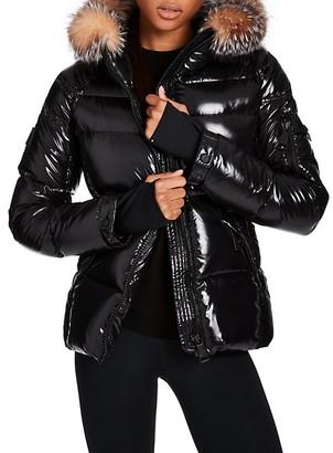 SAM. Blake Fur-Trim Puffer Down Jacket