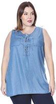 Grayson Shop Plus Size Denim Lace Up Tunic