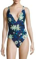 Proenza Schouler One-Piece Floral-Print Swimsuit