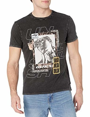 GUESS Men's Short Sleeve Digital D.I.Y Graphic Tee