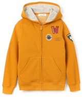 La Redoute Collections Zipped Hoodie with Badges, 3-12 Years