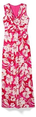 Vince Camuto Floral-Print Wrap-Front Maxi Dress
