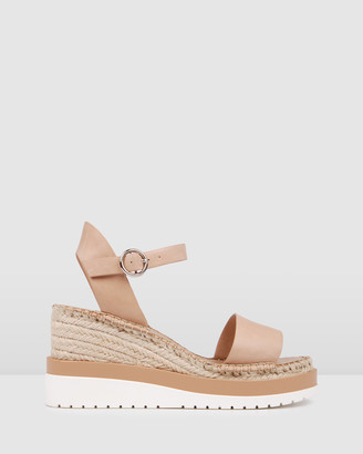 Jo Mercer - Women's Neutrals Wedge Sandals - Kandy Mid Heel Wedge Espadrilles - Size One Size, 36 at The Iconic