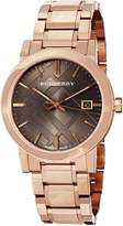 Burberry Women's BU9005 Large Check Rosetone Stainless Steel Bracelet Dial Watch