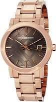 Burberry Women's BU9005 Large Check Rosetone Stainless Steel Bracelet Dial Watch