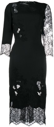 Ermanno Scervino Lace Insert Dress