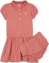 Ralph Lauren Logo cotton polo dress & underwear 3-24 months