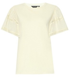 Dorothy Perkins Womens Yellow Extreme Frill Sleeve Top, Yellow