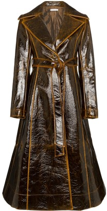 REJINA PYO patent leather effect trench coat