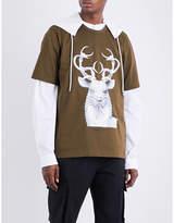 Juun.J JUUN J Stag-print cotton-jersey T-shirt