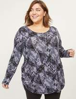 Lane Bryant LIVI Tunic - Tie-Dye With Ruched Side