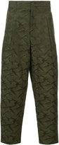 Yohji Yamamoto camouflage cropped trousers