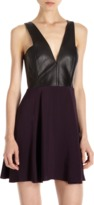 Mason by Michelle Mason Leather Bodice Dress Sale up to 60% off at Barneyswarehouse.com