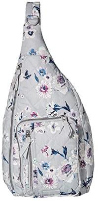 Vera Bradley Iconic Performance Twill Sling Backpack (Park Stripe) Backpack Bags