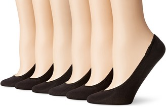 Peds Women's Microfiber Ultra Low Cut Liner with Gel Tab 6 Pairs