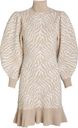 Ulla Johnson Joni Zebra Jacquard Knit Dress
