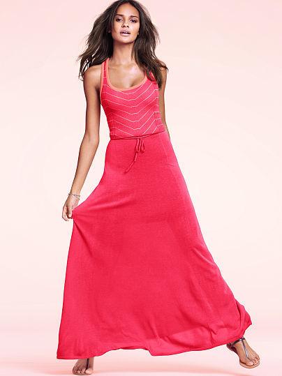 Victoria's Secret Tie-waist Maxi Dress