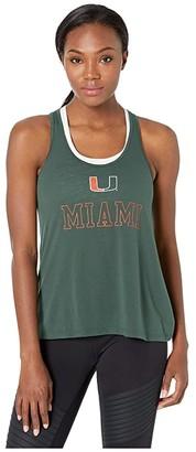Champion College Miami Hurricanes Swing Tank Top (Dark Green 2) Women's Sleeveless