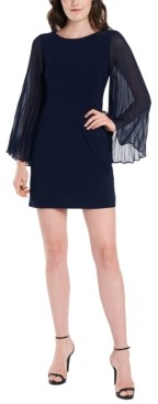 MSK Petite Pleated-Sleeve Sheath Dress