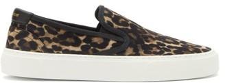 Saint Laurent Venice Slip-on Leopard-print Suede Trainers - Leopard