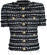 Balmain Short Sleeve Tweed Jacket