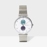 Paul Smith Men's White And Silver 'Track' Watch
