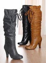 Tie-front boot