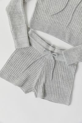 Out From Under Colton Shorts - Grey XS at Urban Outfitters
