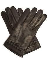 Bottega Veneta Intrecciato-cuff leather gloves
