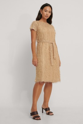 NA-KD Net Detail Midi Dress