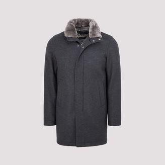 Herno Fur Collared Coat