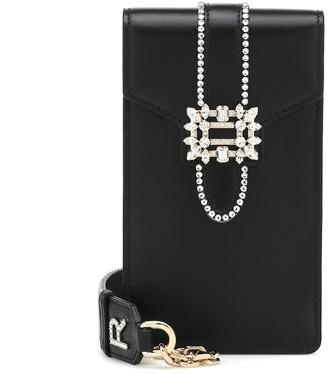 Roger Vivier Miss Vivier embellished leather crossbody bag