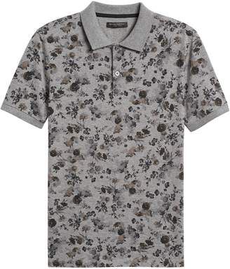 Banana Republic Slim Luxury-Touch Floral Polo Shirt
