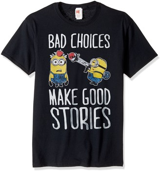 Despicable Me Men's Minions Bad Make Good Choices Funny Graphic Tee