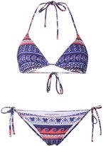 Mary Katrantzou printed triangle bikini - women - Polyester/Spandex/Elastane - XS