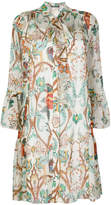 Alberta Ferretti floral print shirt dress