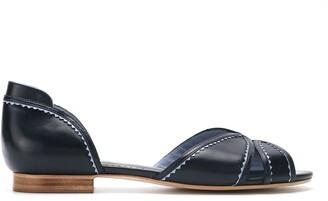 Sarah Chofakian Iberica leather flat sandals