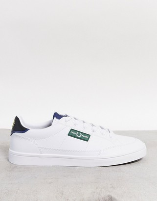 Fred Perry Deuce leather sneakers with tab logo in white