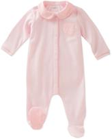Absorba Pink Peter Pan Collar Footie - Infant