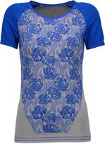 adidas by Stella McCartney Intarsia-knit stretch-jersey T-shirt